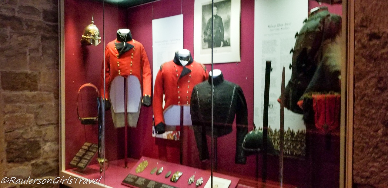 Uniforms in the Royal Welch Fusiliers Museum