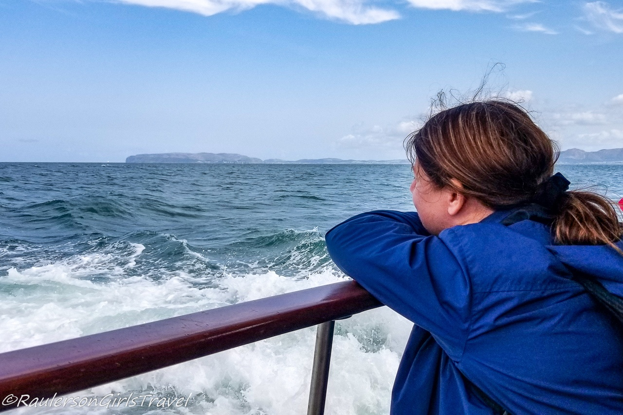 Heather on a boat ride in the Menai Strait - Blue Mind