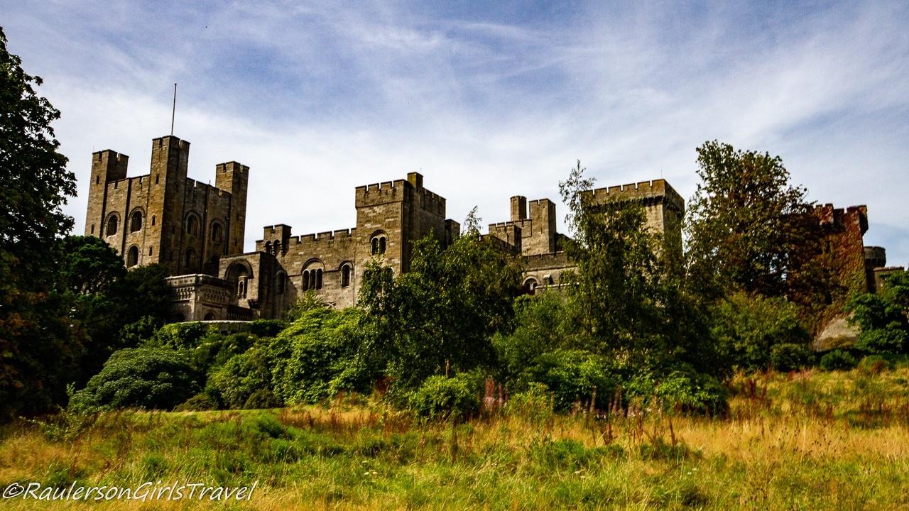Side view of Penrhyn Castle
