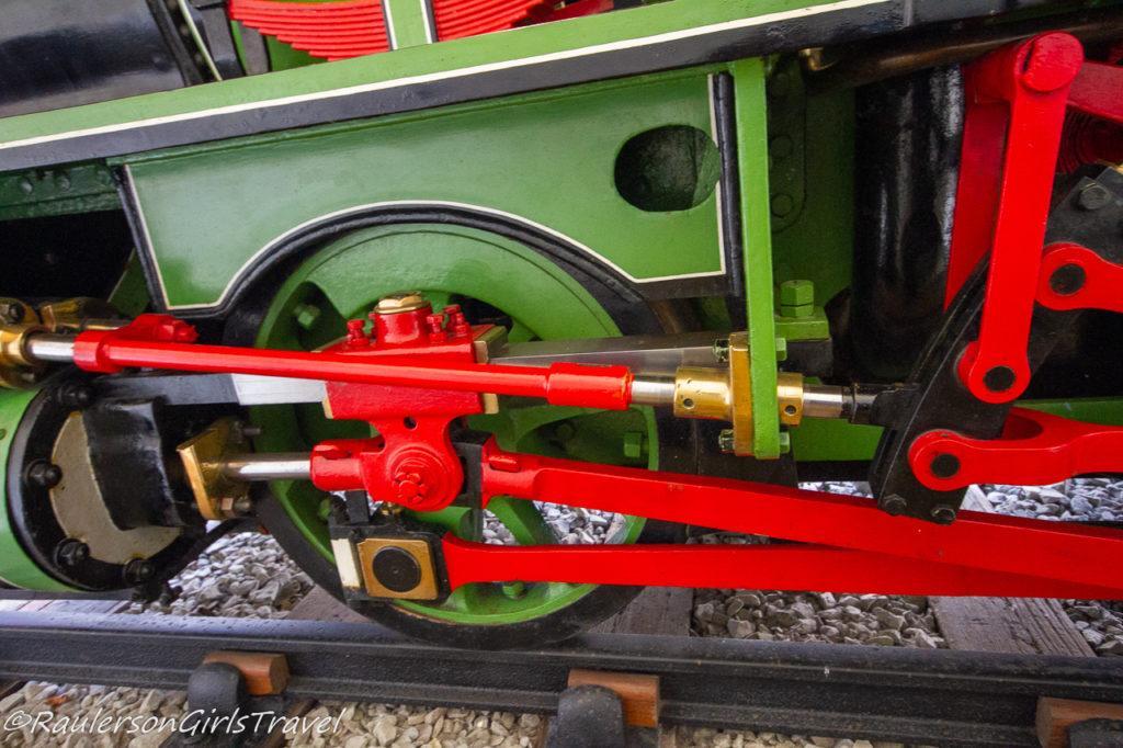 Close-up of Piston Train Wheels