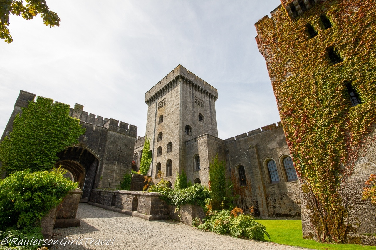 Ivy covered towers of Penrhyn Castle