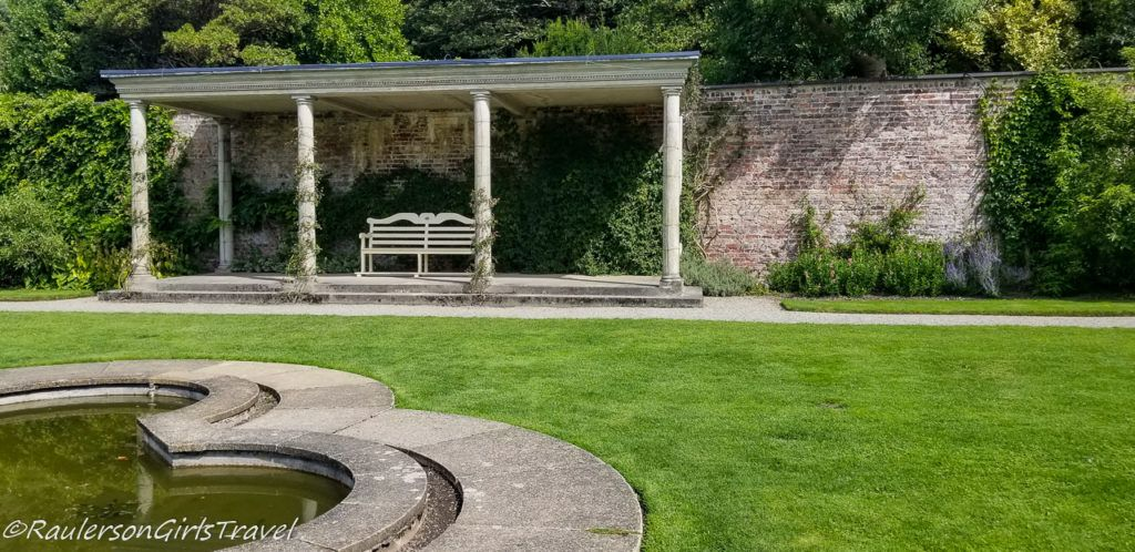 Bench by the Walled Garden at Penrhyn Castle