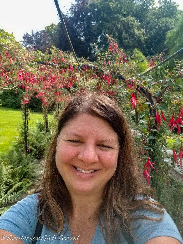 Heather in the Fuchsia walkway
