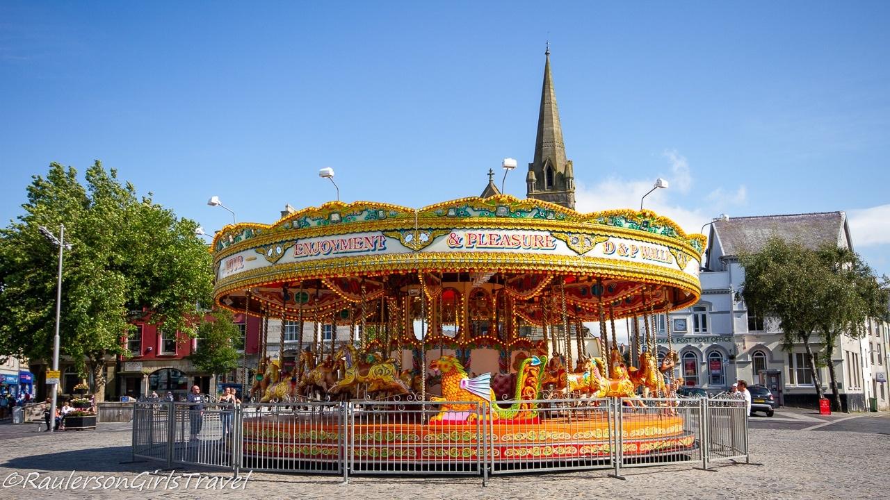 Merry-go-round in Caernarfon Town Center