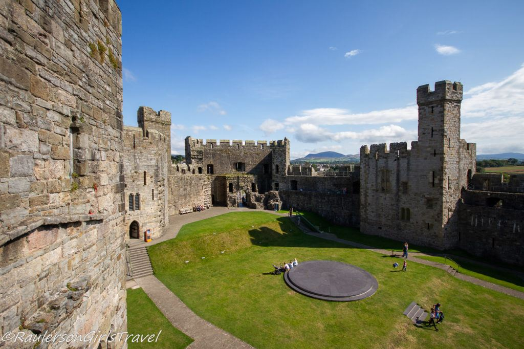 View of the Investiture Dais at Caernarfon Castle