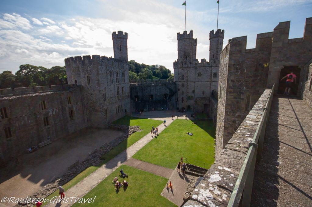 View of Caernarfon Castle from the walls