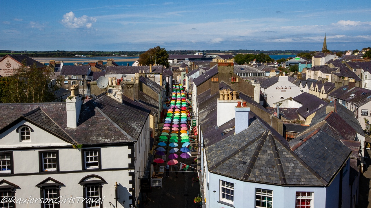 Aerial View of Caernarfon Street