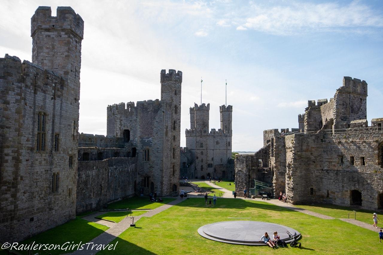 View of Caernarfon Castle from Queen's Gate