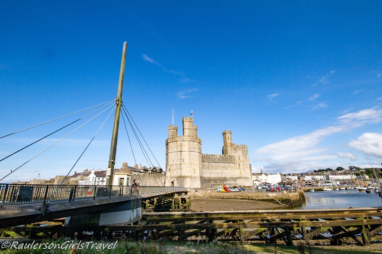 Aber Swing Bridge and Caernarfon Castle