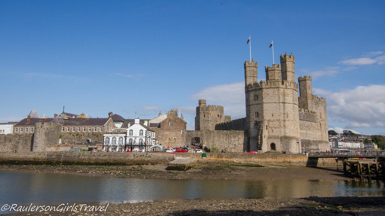 Caernarfon Castle and Afon Seiont