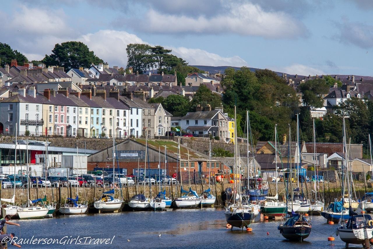 View of Caernarfon from Afon Seiont