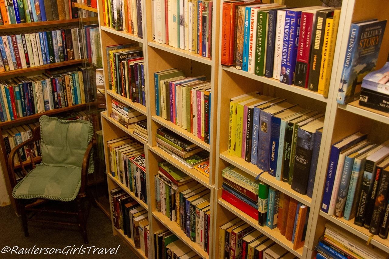 Inside the Book Cave in Caernarfon