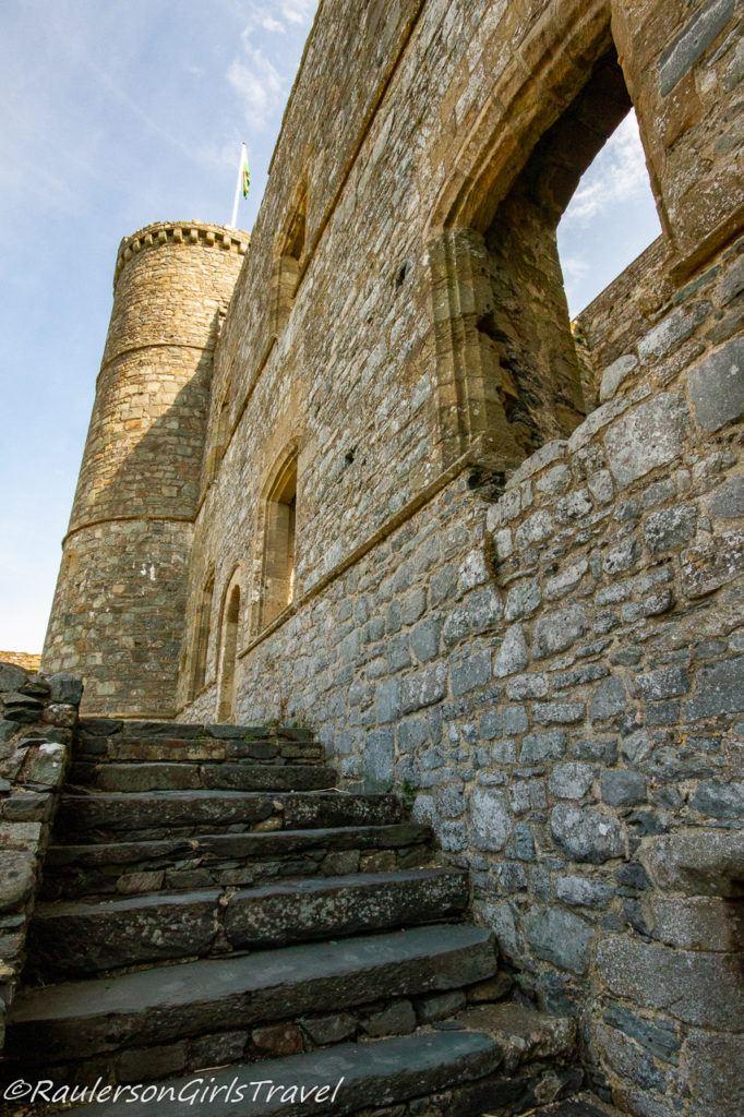Castle steps to the upper floors