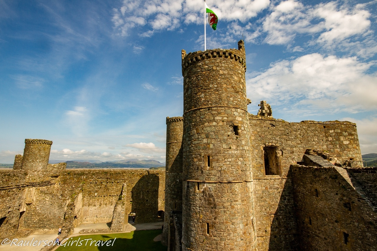 Interior Tower and Walls of Harlech Castle