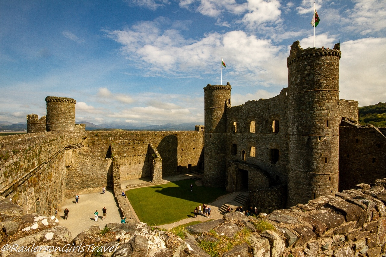 Inside view of Harlech Castle