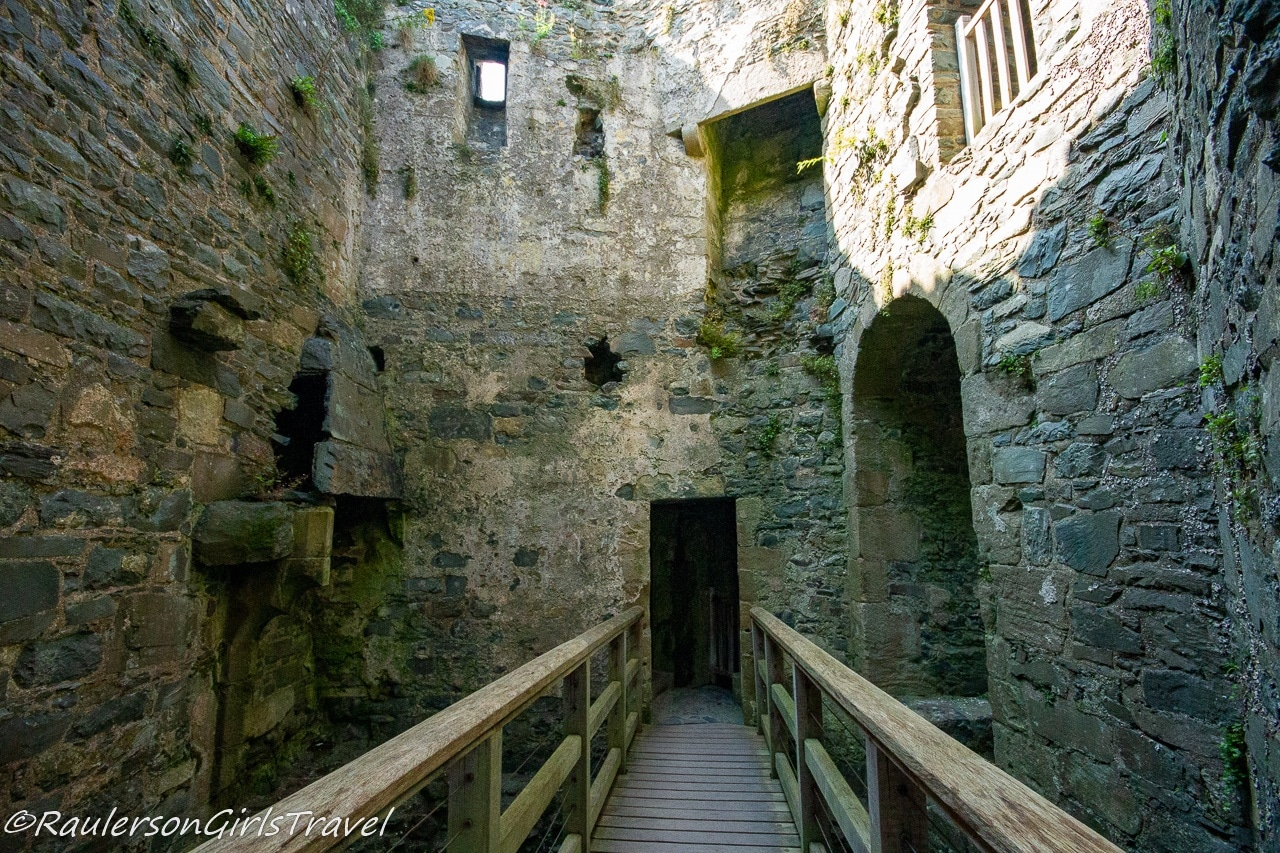 Inside one of the towers in the castle