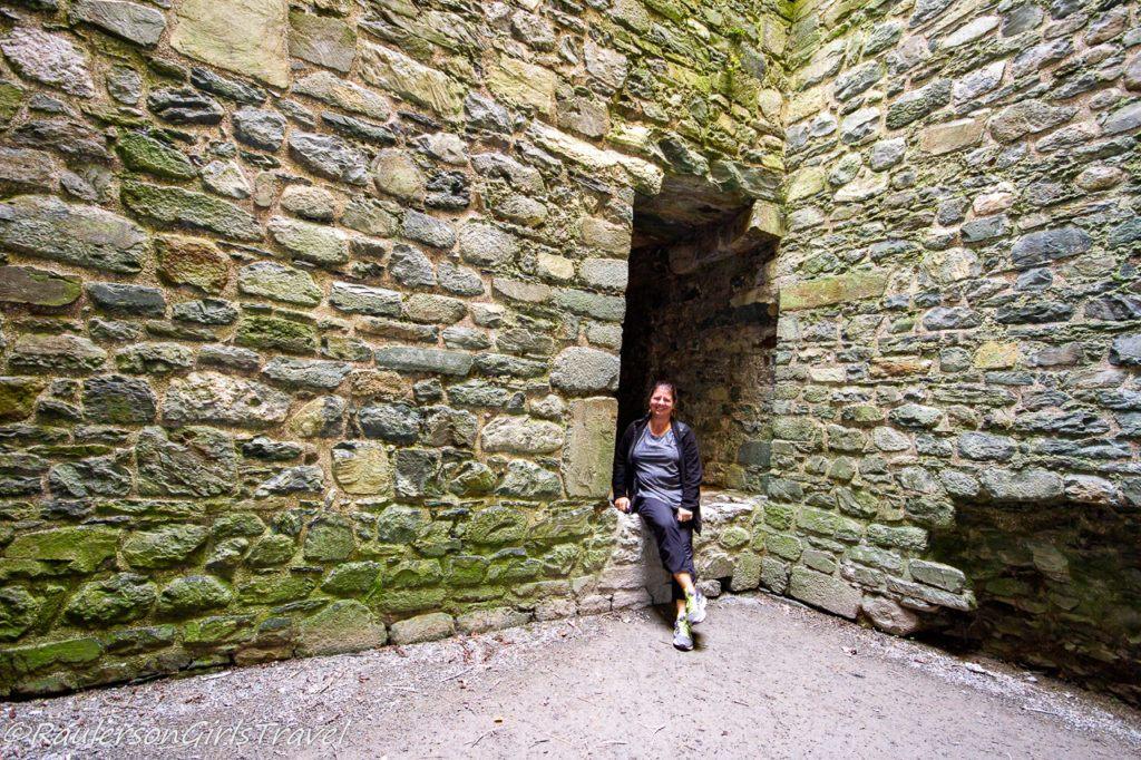 Heather inside the castle