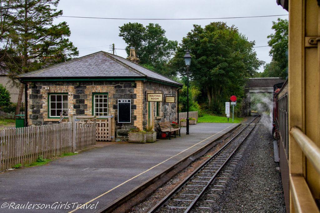 Train Station along the Welsh Highland Railway