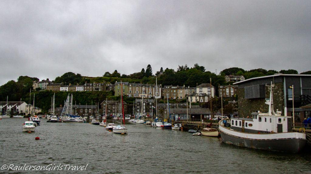 Boats moored in Porthmadog