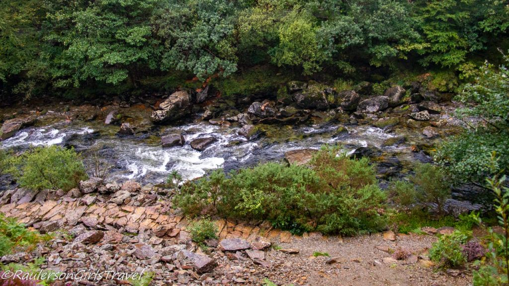 Creek with falls in Snowdonia National Park