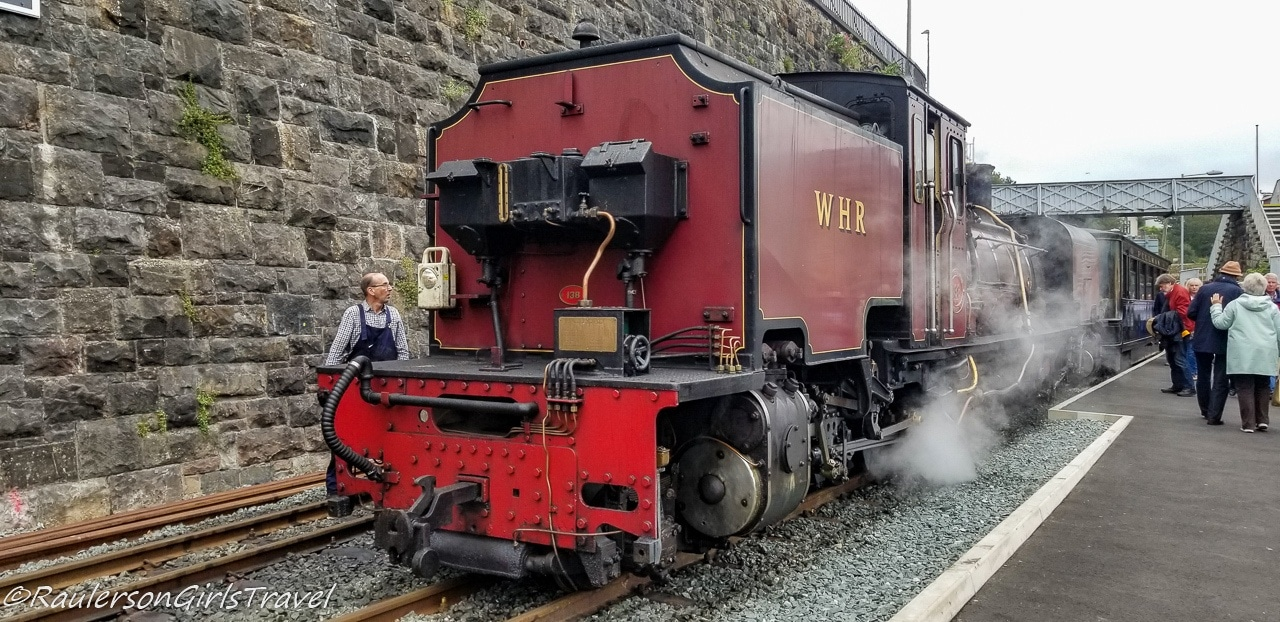 Welsh Highland Railway Engine and Train at the station