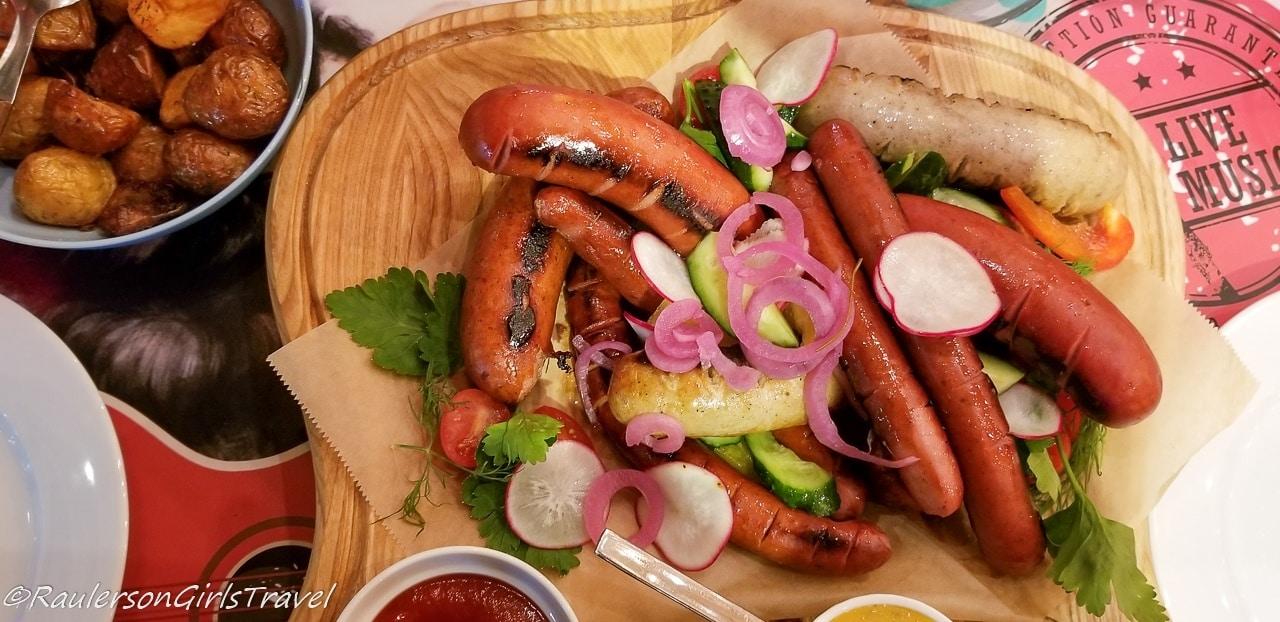 Sausage Dish at Rockabilly Restaurant