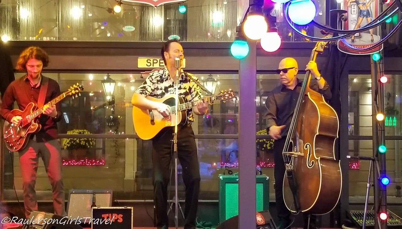 Band at Rockabilly Restaurant