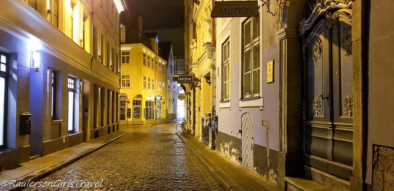 Riga Old Town at Night