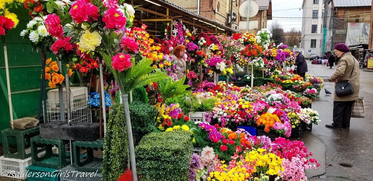 Flower stall at Riga Central Market
