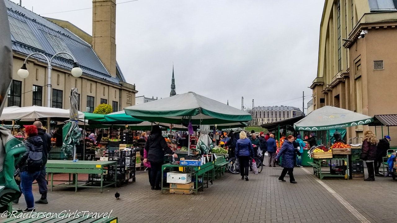 Outdoor view of the Riga Central Market