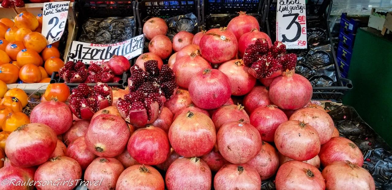Pomegranate in the Riga Central Market