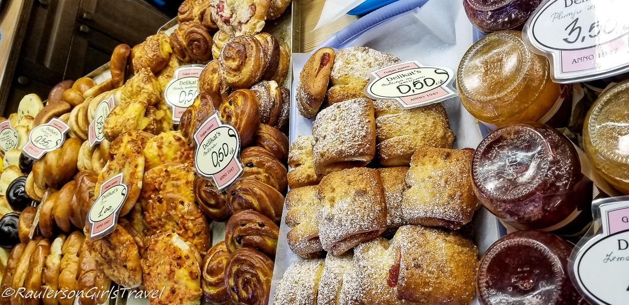 Pastries at the Riga Central Market
