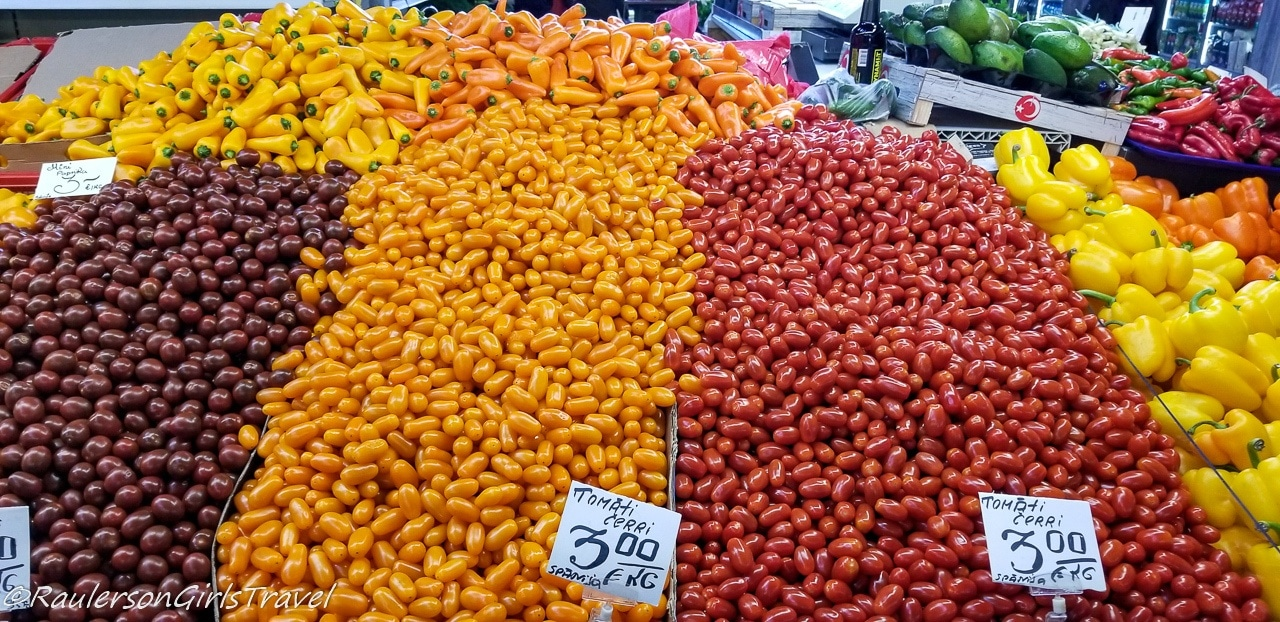 Colorful vegetables at the Riga Central Market