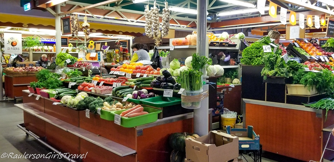 Vegetable Stalls inside the Riga Central Market