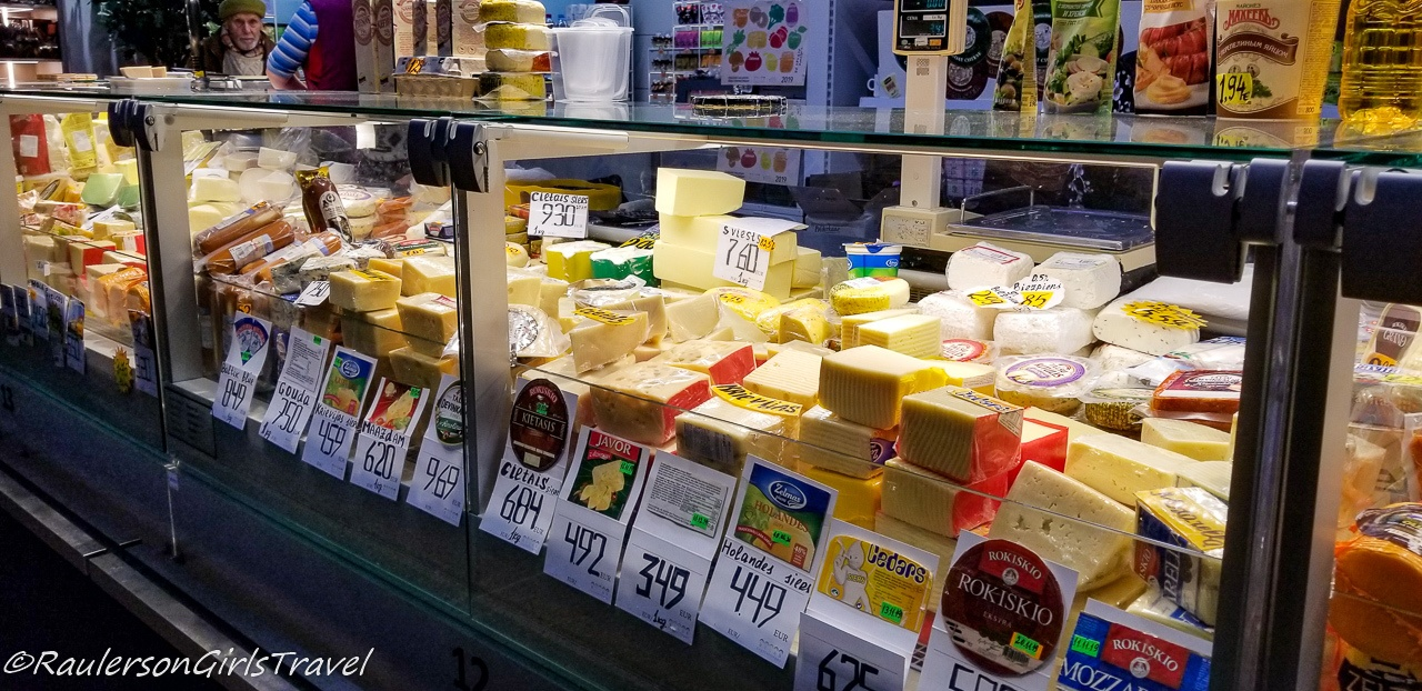 Cheese stall at the Riga Central Market