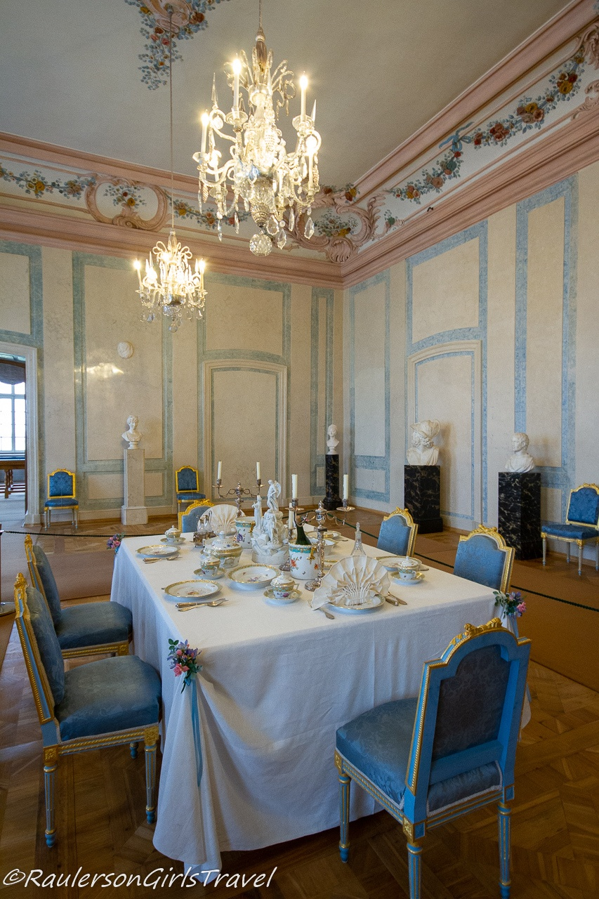 The formal dining room of Duke Peter and Duchess Dorothea