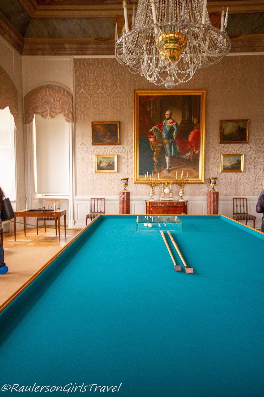 Billiards Room in the Rundāle Palace