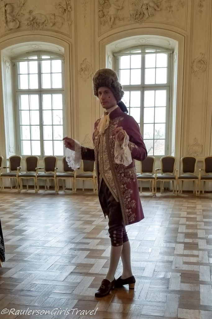 Man in Period Wear in the Palace