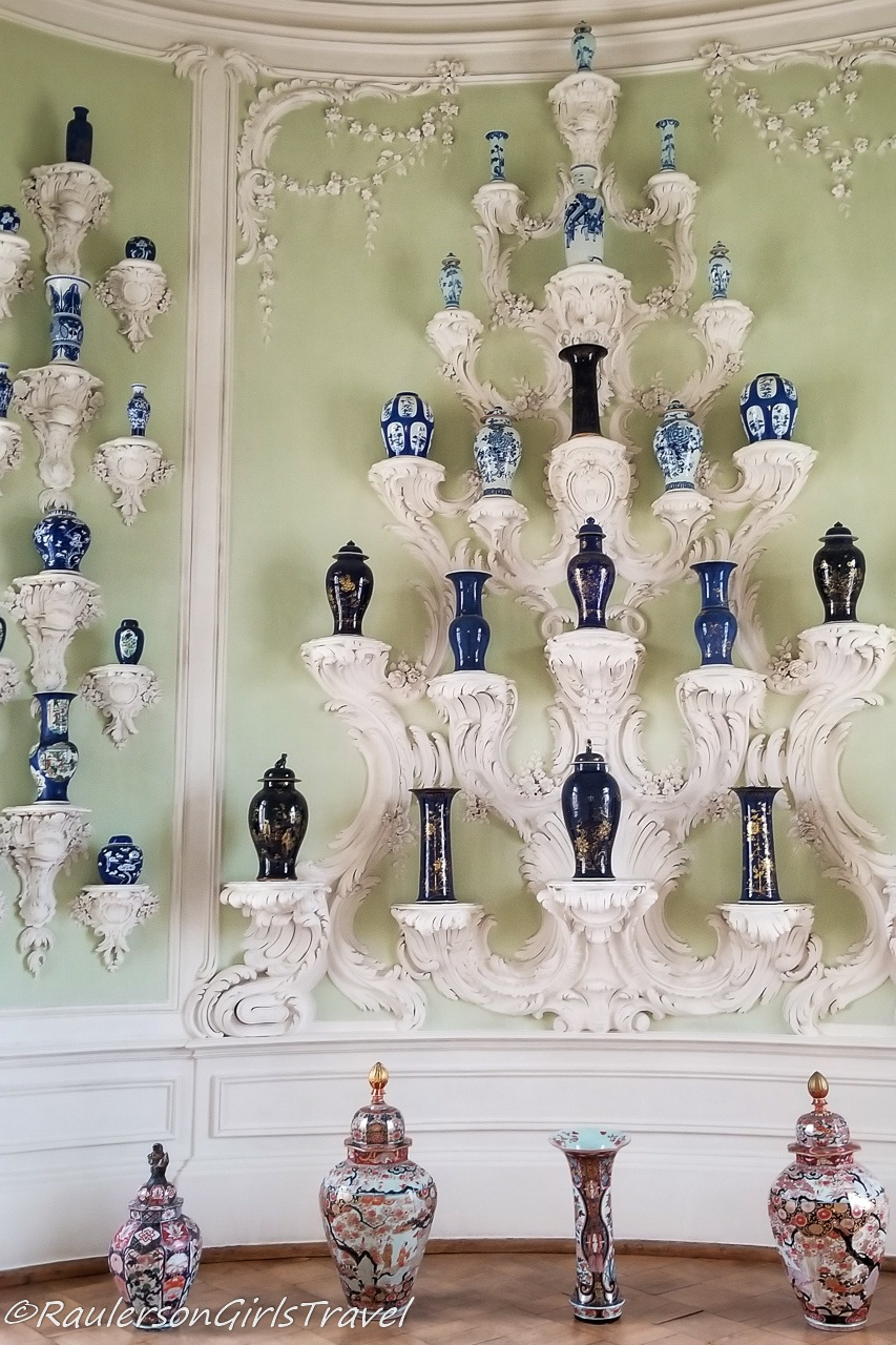 Blue and White Oriental Vases in the Porcelain Room