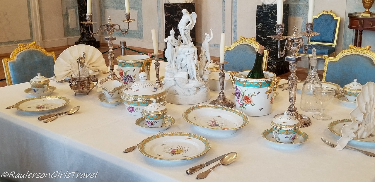 Duke Peter and Duchess Dorothea Formal Dining Table Settings