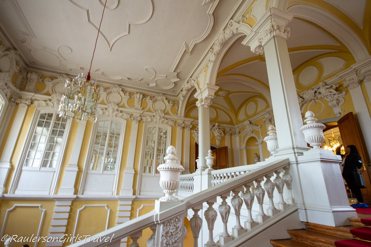 The State Staircase in the Rundāle Palace
