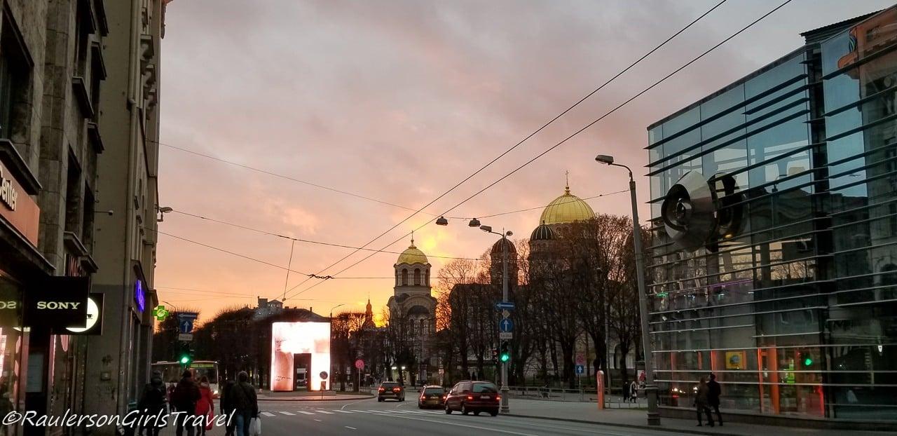 Sunset in Riga