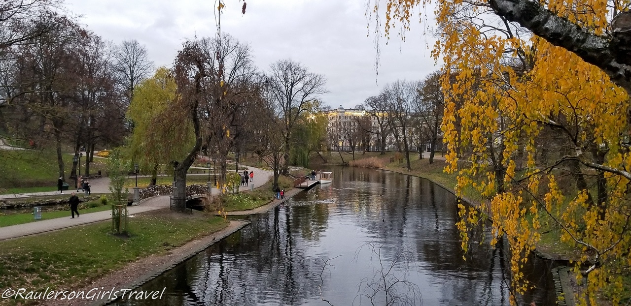 City Canal in Riga Park