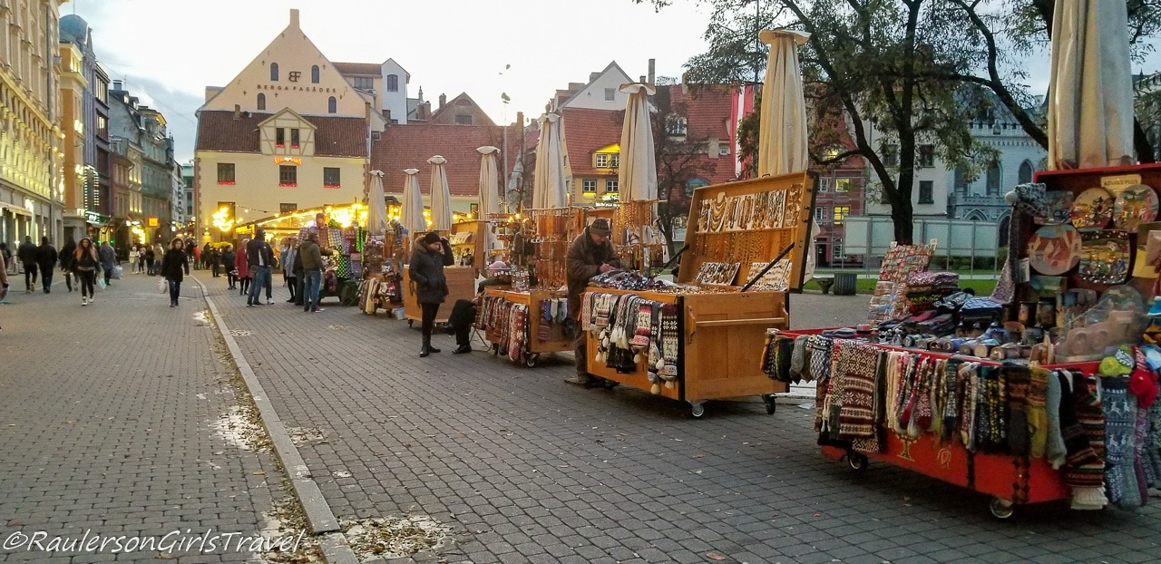 Street Vendors in Old Town Riga