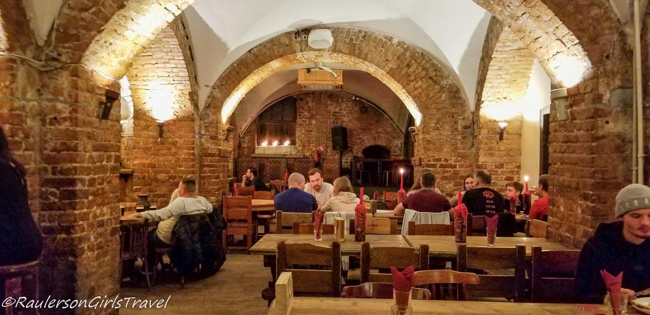 Inside View of Folkklubs Restaurant - Where to Eat in Riga