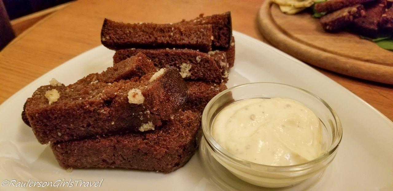 Garlic Bread at Folkklubs Restaurant