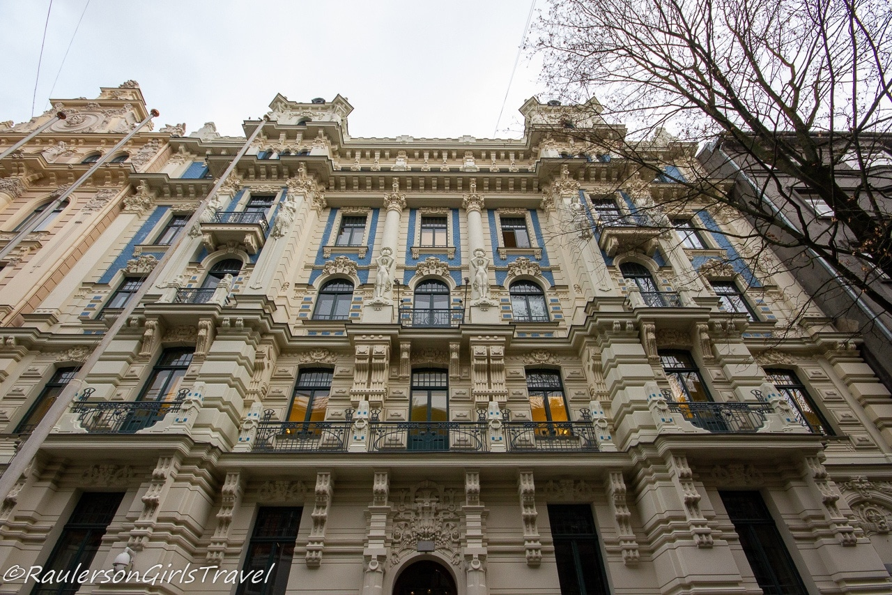 Art Nouveau building in Riga - things to do in Riga