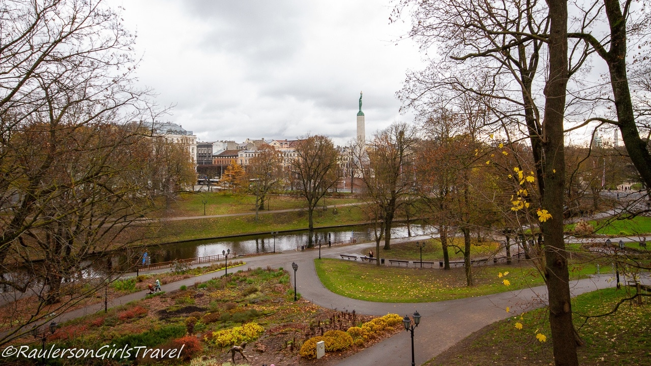 City Canal and Park in Riga
