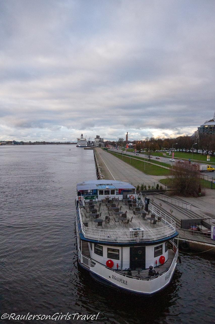 Ferry on the Daugava River