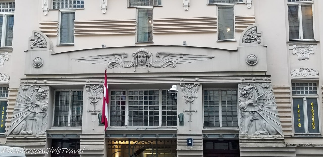 Egyptian motifs on the Art Nouveau buildings in Riga